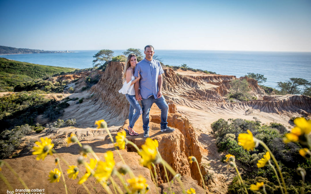 Torrey Pines Engagement Session with Elyce + Travis